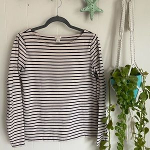 J. Crew Striped Boatneck Tee Shirt